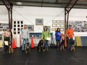 Advanced Puppy Class Graduation March 2018