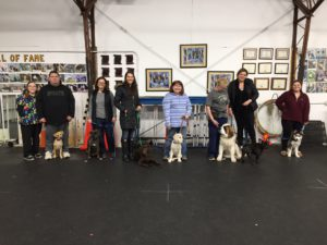 Puppy Class Graduation March 2018