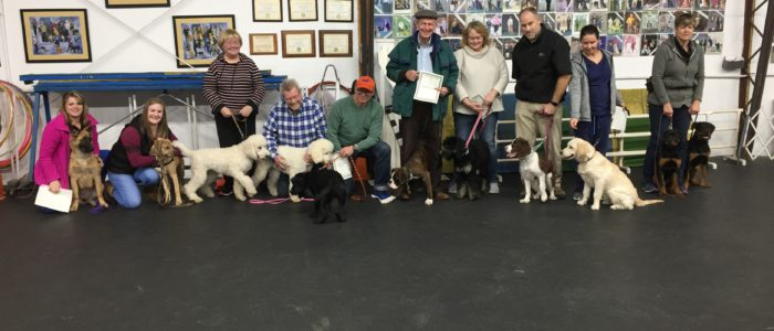 Congratulations to our Puppy Class graduates
