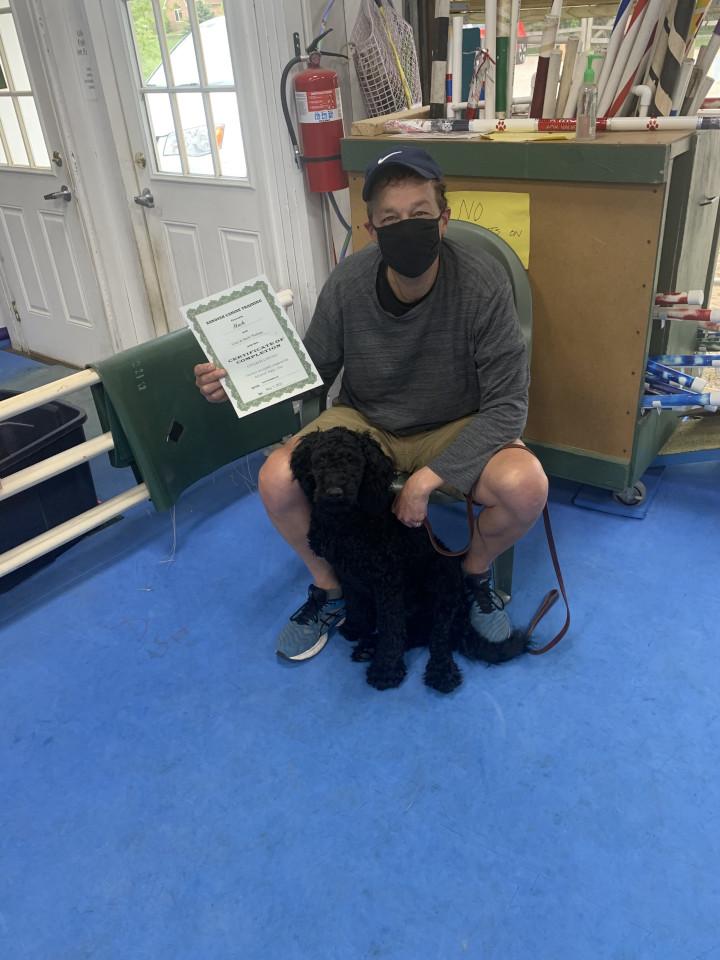 Puppy Class Graduates, May 2021